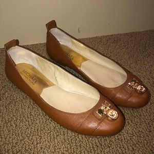 Michael Kors Logo Leather Flats